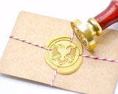 B20 Wax Seal Stamp Heraldic Two Head Double-headed Eagle Phoenix