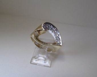 Heart Diamond 14K Gold Ring