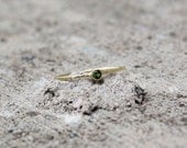 August Birthstone Stacking Ring in Gold, Peridot Ring
