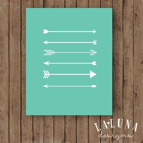 Arrow Print, Arrow Wall Art, Arrows Nursery Art, Arrow Art, Arrow Decor, Nursery Decor