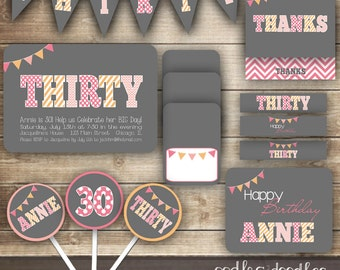 Thirtieth birthday etsy for 30th birthday decoration packages