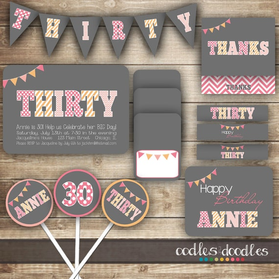 30th birthday party package thirtieth birthday thirty for 30th birthday decoration packages