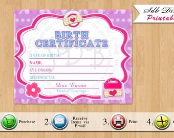 Birth certificate | Etsy