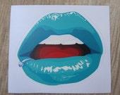 Punk Lips Sticker, 100% Waterproof Vinyl Sticker, Pop Culture Sticker, 3M Sticker