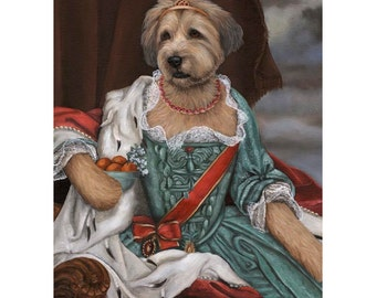 Wheaton Terrier, 5x7 Print, Dog Novelty Gift Lady Ruby, Funny Pet Gift