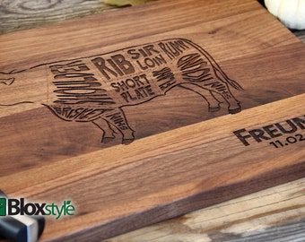 Personalized/Engraved Cutting Board with Where's the beef Design 11x16x 3/4 or 9x12, Personalized Wedding Gift, Housewarming Gift, Chef