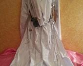 Native American Southwestern Style Unisex White Faux Pony Skin Maxi Coat (Many Colors Available) Wedding Bridal Costume Historical Party