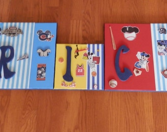 Boyz Canvas & Wood Letters Name Wallhanging