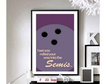 The Big Lebowski Quotes ('Semis.') Art Print
