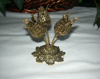 vintage brass flowers for the boudoir