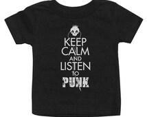 Keep Calm and Listen to Punk T-Shirt