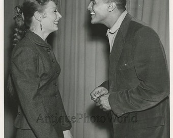 Harry Belafonte singer with actress Gwen Verdon vintage photo