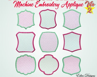 Applique Shapes Version 2 Machine Embroidery Designs Digital Download