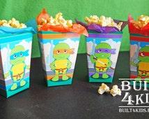 baby ninja turtles baby shower birthday movie night party popcorn