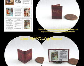 JANE ERYE Miniature Book Illustrated Readable Dollhouse 1:12 Scale Book