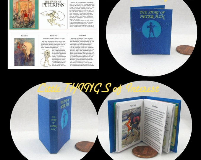 PETER PAN Book 1:6 Scale - Illustrated Readable Book 1/6 scale