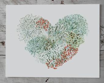 Lichen Heart II Archival Print