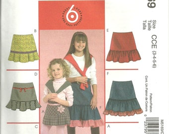 McCall's M5169 UNCUT Pattern / Children's - Girl's Skirts / Size 3, 4, 5 & 6