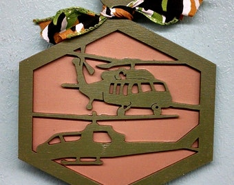 Military Helicopter Christmas Ornament