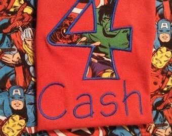 Avenger's birthday shirt