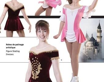 Jalie 2791 Elegant Princess Figure Skating Dress w/Panties Sewing Pattern 22 Sizes Women & Girls