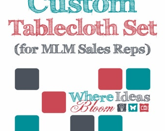 Fitted Tablecloth for 6 Foot Table and Table Topper for MLM Sales Reps, Great for Event Displays