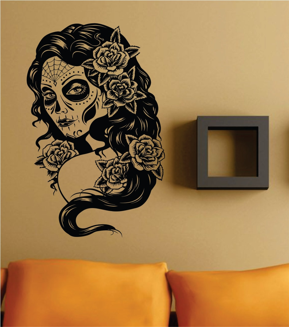 Day of the Dead Woman Version 101 Skull Wall Vinyl Decal