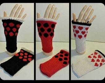 Spotty, Dotty Fingerless cuff/wrist warmers
