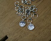 Totoro - set of 8 stitch markers for knitting / fits US size 9 (5.5mm) needle / Little Skein in the Big Wool