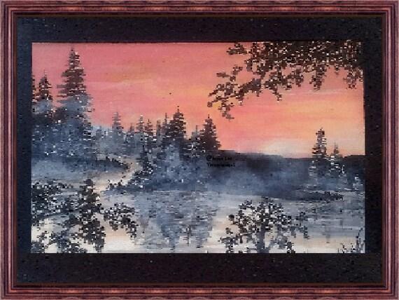 "11 X 14 Giclee Fine Art Print   ""Misty Morning"""