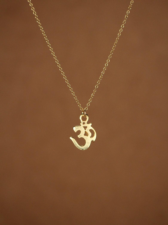 ohm necklace gold ohm necklace aum om omkara