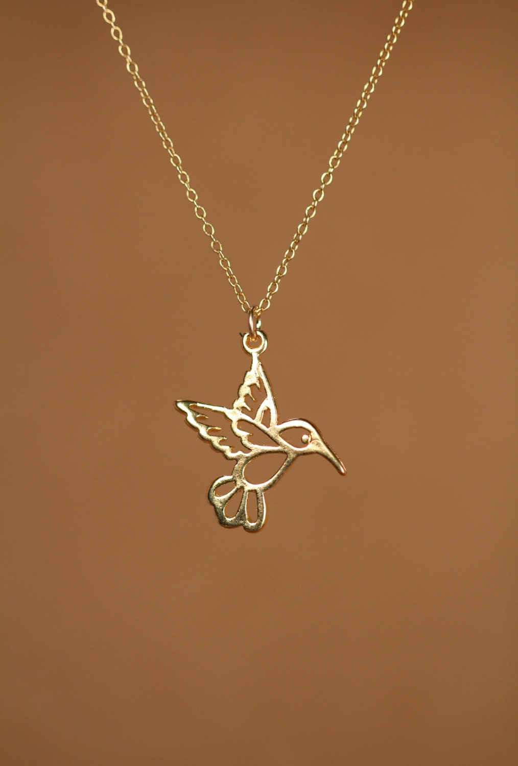 bird jewelry humming bird necklace gold hummingbird necklace silver 9448