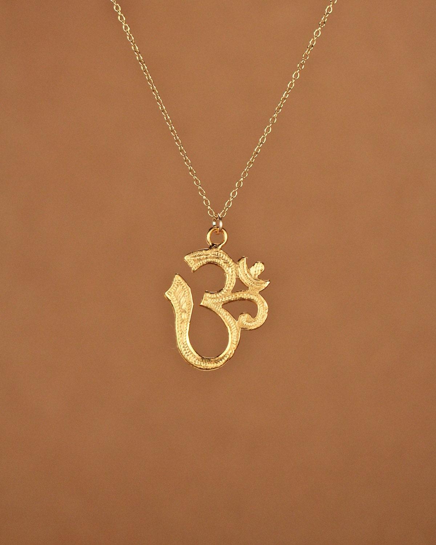 ohm necklace om gold ohm omkara necklace