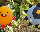 Sun&Moon 2 in 1. Hanging toy for babies