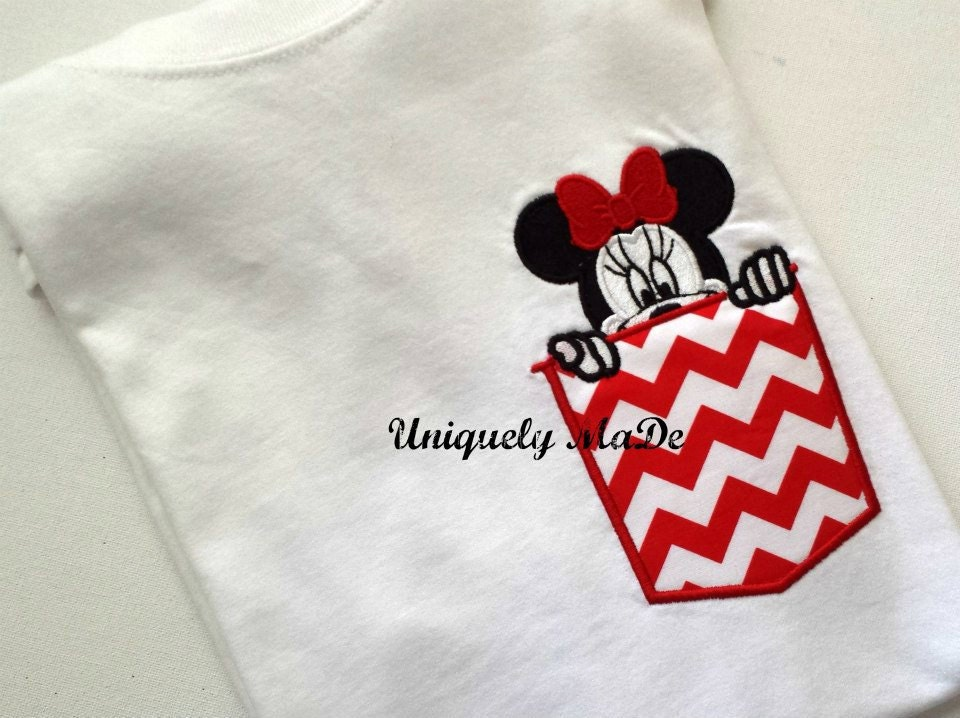 Mouse in Shirt Pocket Adult Minnie Mouse Pocket Tee