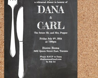 blank dinner invitation template