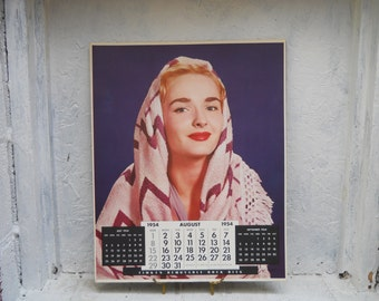 16x20 Calendar.  Aug. 1954.  Lithograph.  Victor Keppler Photo. Commercial Photography.  Timken Roller Bearings.