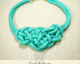 Fluorescence Necklace, Knot Necklace, Bib Necklace, Statement Necklace, Jewelry