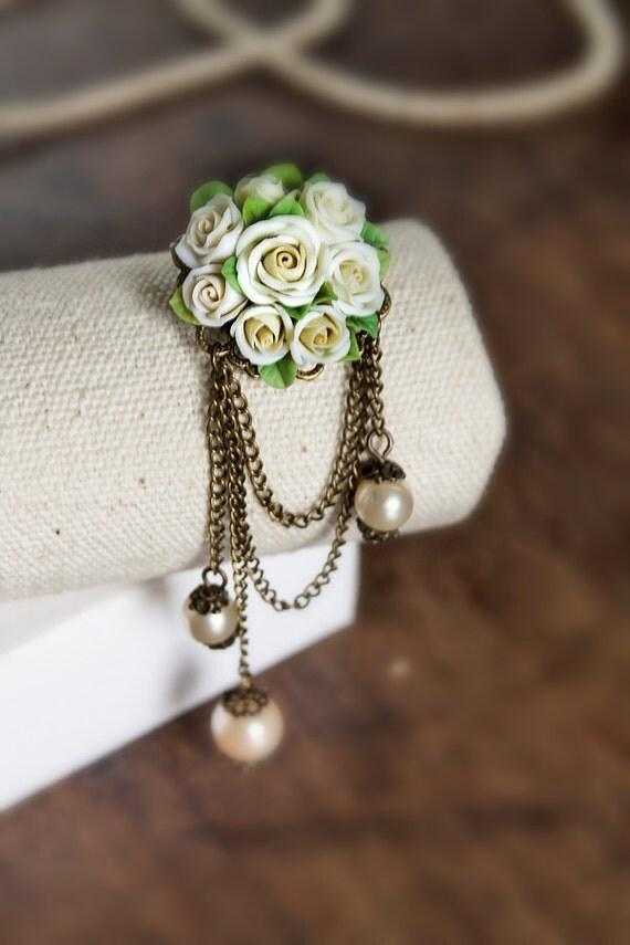 Items similar to handmade rose brooch ,handmade rose ...