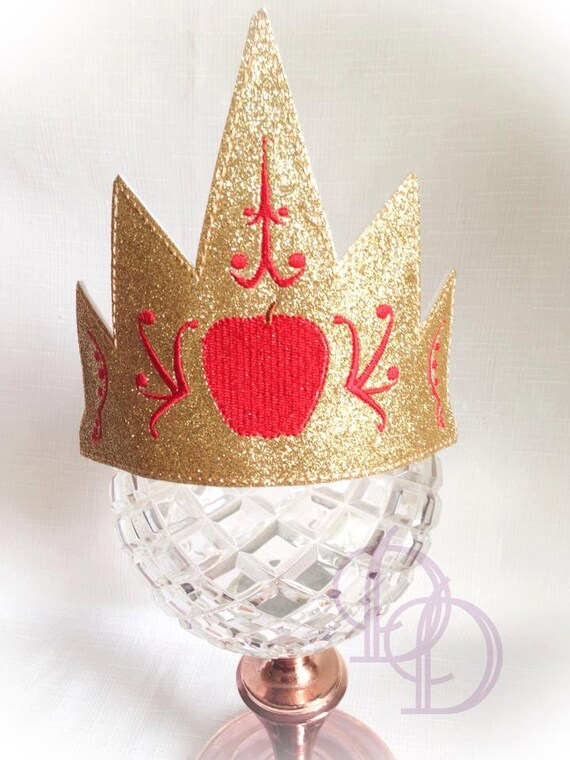 Items similar to the snow queen glam hat crown embroidery
