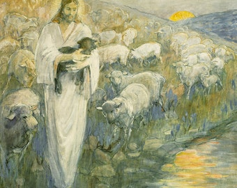 Rescue Of The Lost Lamb by Minerva Teichert LDS Mormon Art