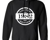 1982 Limited Edition 2016 Birthday Hoodie 34th Birthday Gift Mens Womens Ladies Hoodie Hooded Sweatshirt Sweater Unisex Modern Custom B-405
