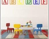 Alphabet Wall Decal ABC Playroom Wall Decal  ABC Wall Decal Vinyl Lettering  Alphabet Letters  Toddler Kids Playroom Wall Decal