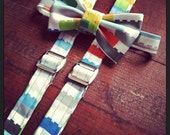 Lego or Building Block Suspender and Bow Tie Set for Boys