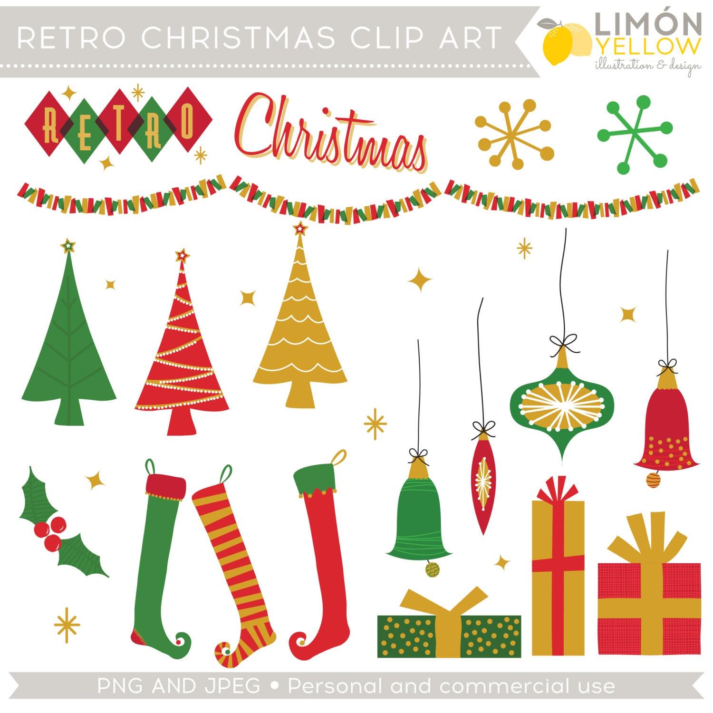 Retro Christmas Clip Art (Royalty Free) Mod Vintage ...