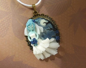 Halloween Collection - Ghostbride Cameo Necklace