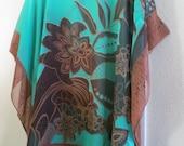 Coverup, Emerald Green Beach Coverup, Womens Tunic, Womens Blouse