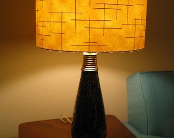 Mid Century Vintage Style 2 Tier Fiberglass Lamp Shade Modern Atomic Retro IO