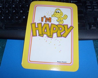 vintage kent moodies greeting card HAPPY MOODIE i'm happy for you congratulations unused