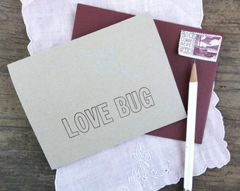 Love Bug Letterpress Greeting Card